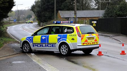 The A47 has been closed in both directions after a crash at East Winch
