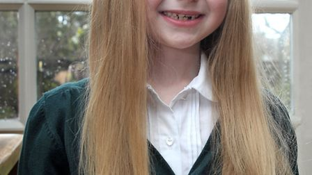 Roisin Larham from March is having her hair cut off for the Princess Trust. Picture: Steve Williams.