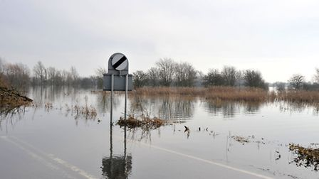 The flooded Ouse Washes, at Welney, earlier this year.