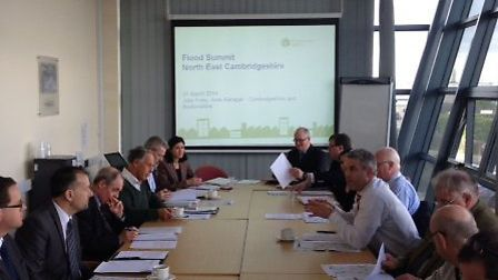 MP Steve Barclay hosted a floods summit at Chatteris