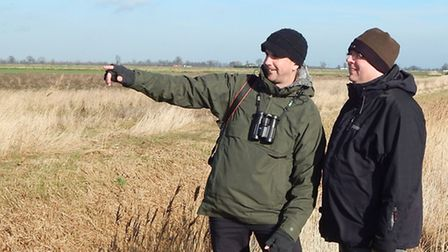 Cambs farmland wildlife project flourishes with CLA member's help. Simon Tonkin and Michael Sly take