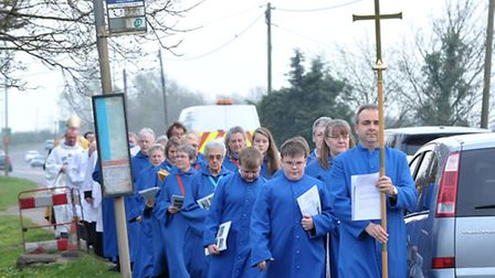 The Rededication and Consecration of March St Mary's Church Westry. Picture: Steve Williams.