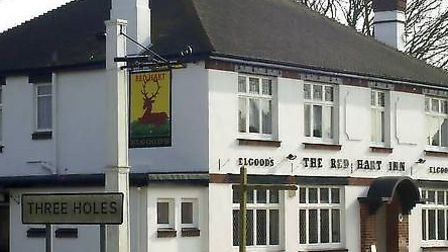 Red Hart Public house, Three Holes, Wisbech.