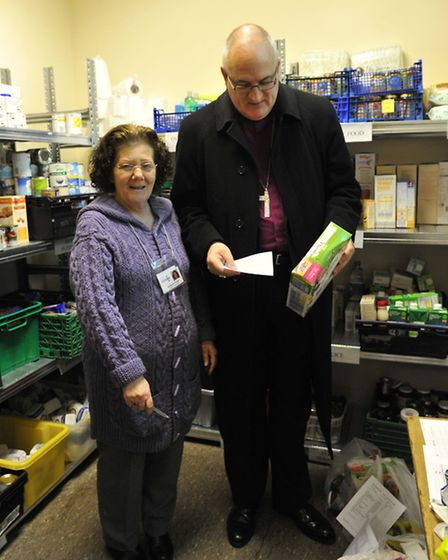The Bishop of Ely visits Wisbech. Picture: ROB MORRIS