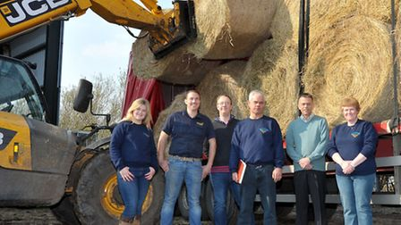 Hay pick up to take to Somerset farms from Skylark garden Centre, Wimblington. Left: Lucy Munns, Edw