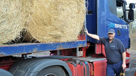 Hay pick up to take to Somerset farms from Skylark garden Centre, Wimblington. Driver for Bretts Hau
