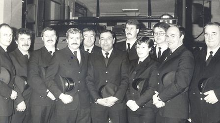 Janette and the rest of the crew at Cottenham in the 1980s.