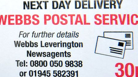 Brian Webb and his postal service. Picture: Steve Williams.