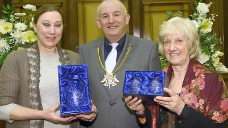 Fenland Council staff rewarded for long service. Left: Vivian MacRae, a senior support worker at Vic
