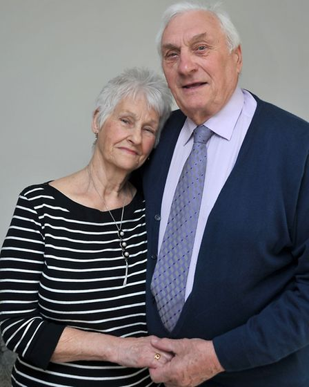 Dick and Lily Dickens. 60th wedding anniversary. Picture: Steve Williams.