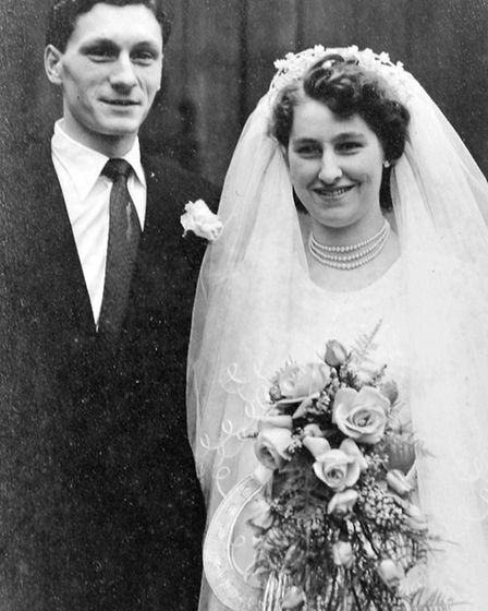 Dick and Lily Dickens. 60th wedding anniversary.