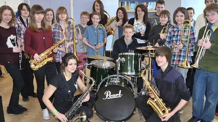 Rehearsals for Fenland Youth Swing Band.