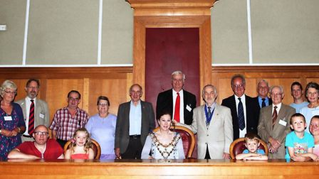 Heritage weekend: The mayor, visitors and friends at the former Wisbech magistrates court.