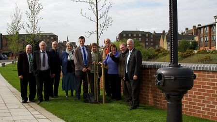 Wisbech In Bloom Volunteers celebrate the project being completer. Picture: ROGER RAWSON.