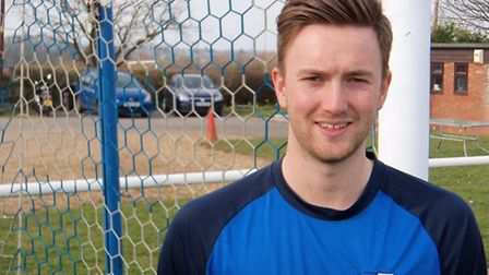 Barnston's man-of-the-match Troy Featherstone.