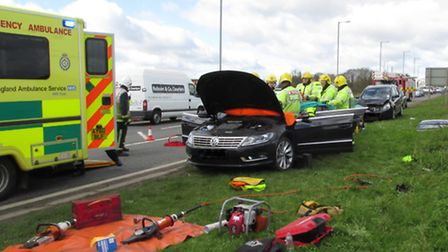 A47 collision yesterday