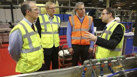 MP Steve Barclay, second from right, on a visit to JDRof Littleport.