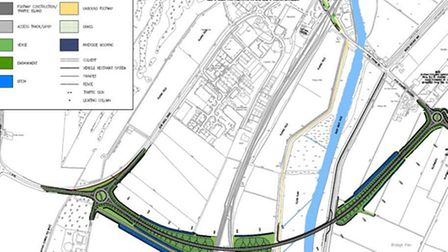 Ely Bypass. An overhead view of how the bypass will come through the city
