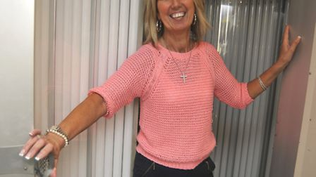 Tanning World owner Pamela Gilbey, with the new tubes.