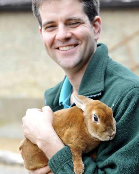 South Angle Farm Park, Soham, will open to the public next week. Owner David Woricker.