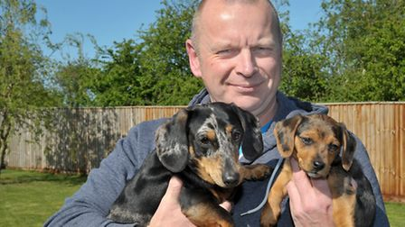 Jeremy Furnell With Mr Bojangles and Amber.Picture: Steve Williams.
