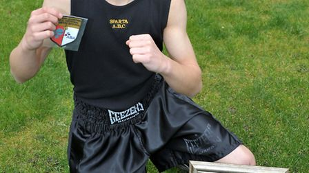 Eryk Ciureja, ABA Eastern Counties Champion. From the Sparta ABC boxing club March. Picture: Steve W