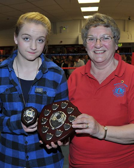 March ABC boxing show. Left: Boxer Patsy Smith and Sylvia Keane from the March Lions .Picture: Stev
