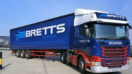 One of Bretts' 80 strong lorry fleet