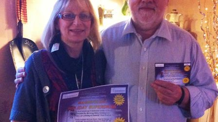 Pictured are the lucky winners David And Bridget Dawkins.