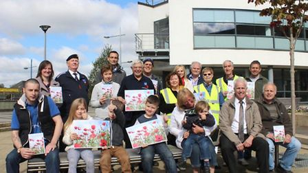 Poppy sowing at the Boathouse Wisbech. Volunteers from Wisbech In Bloom and Street Pride with member