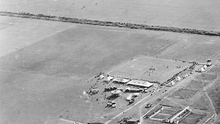 Old aerial shot of Duxford