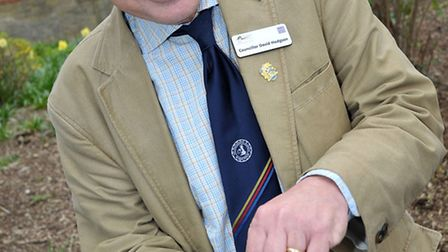 National Centenary Poppy Campaign. Cllr David Hodgson with some poppy seeds ready to sow. Picture: S