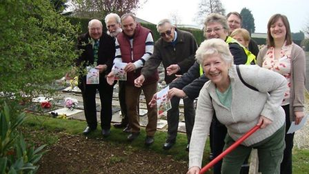 Seed sowing in Eastwood Cemetery.