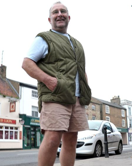 FDC Council Leader Alan Melton who turned up to an FDC picture job wearing shorts