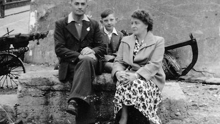 Bob Hopkins (as a child, centre) with his mum and dad in March