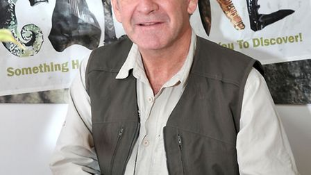 Fossils Galore official opening with Nigel Marven, star of Prehistoric Park and BBC Walking with Din