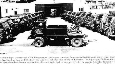 A fleet of Knowles lorries from 1956.