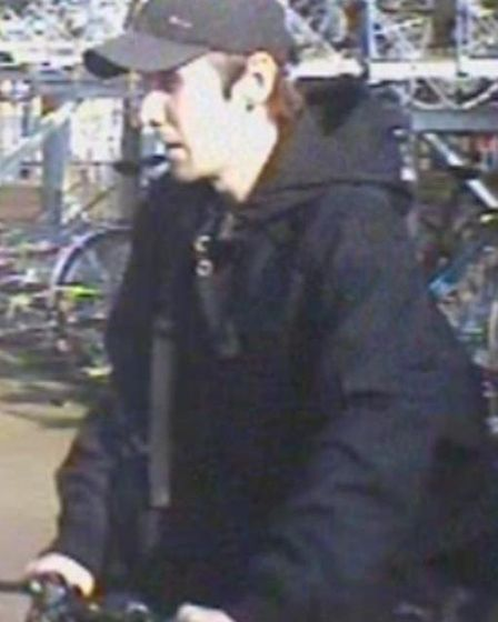 CCTV image of man Police wish to speak to about bike thefts.