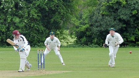 Wisbech v Warboys cricket. Wisbech James Williams in bat.Picture: Steve Williams.