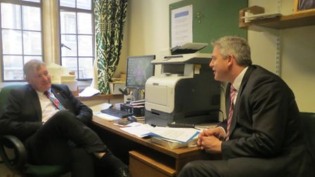 Housing Minister Kris Hopkins (left) with MP Steve Barclay; their meeting led to Government help for