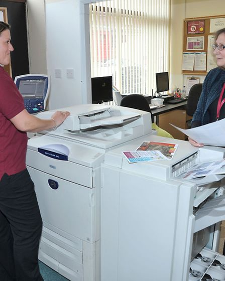 Ferry Project, Wisbech. The new on site printing machine at Ferry Project Norfolk Street.