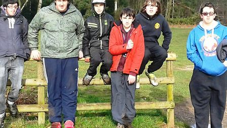 Students took part in a sponsored walk.