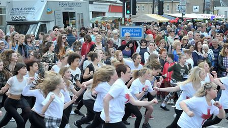 St George's Fayre, March. Dance Mania performing to a large crowd. Picture: Steve Williams.