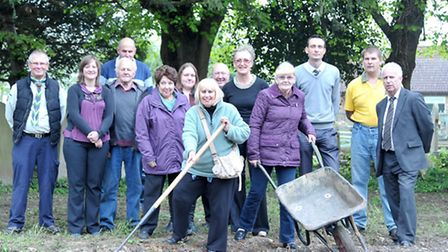 Benwick in Bloom and Street Pride launching their 2014 In Bloom campaign. WW1 poppy sowing in Benwic