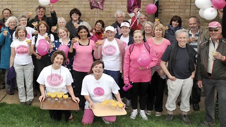 Walkers at last year's event enjoy breakfast at the Glebe