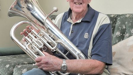 Ivor Smith from March,65 years in The March brass band. Picture: Steve Williams.