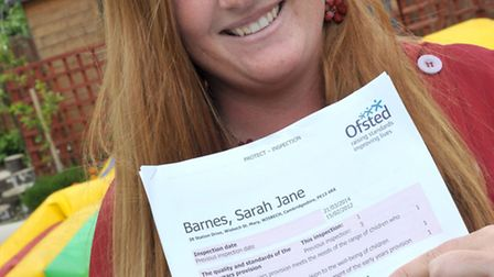 Childminder Sarah Barnes from Wisbech st Mary, gets an outstanding report from Offsted. Picture: Ste