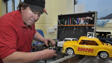 March RC Raceway celebrating 15th anniversary. Racing1:12 scale model RC cars at Westwood Junior Sch