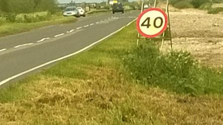 Temporary speed restriction near to scene of fatal collision, Ely