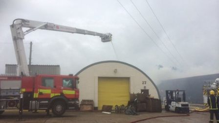 An industrial unit on the Lancaster Way Business Park caught fire